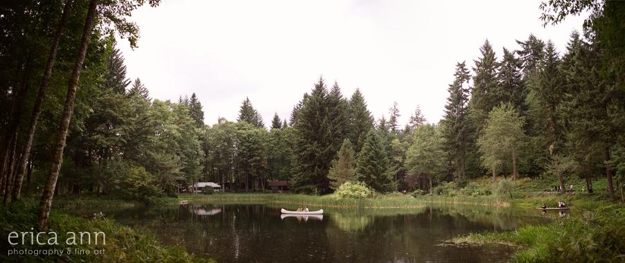 Bridal Veil Lakes Wedding Photos Canoe