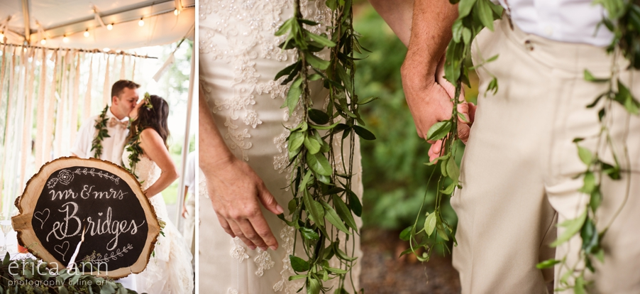 Bridal Veil Lakes Wedding Photos Leis