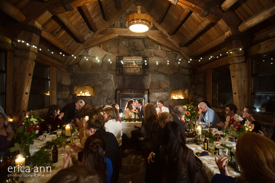 Silcox Hut Wedding Reception