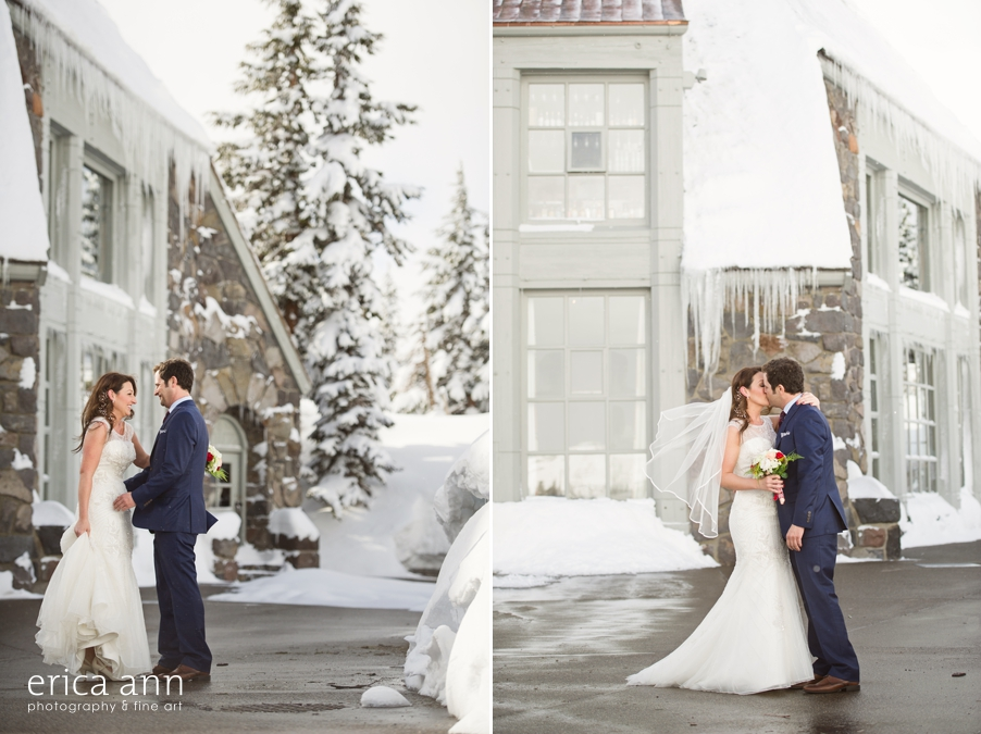 Timberline Lodge Wedding First Look