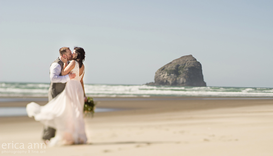 Haystack Rock Oregon Coast Wedding