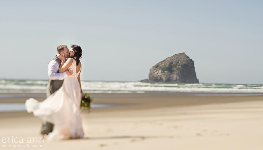 Haystack Rock Oregon Coast Wedding