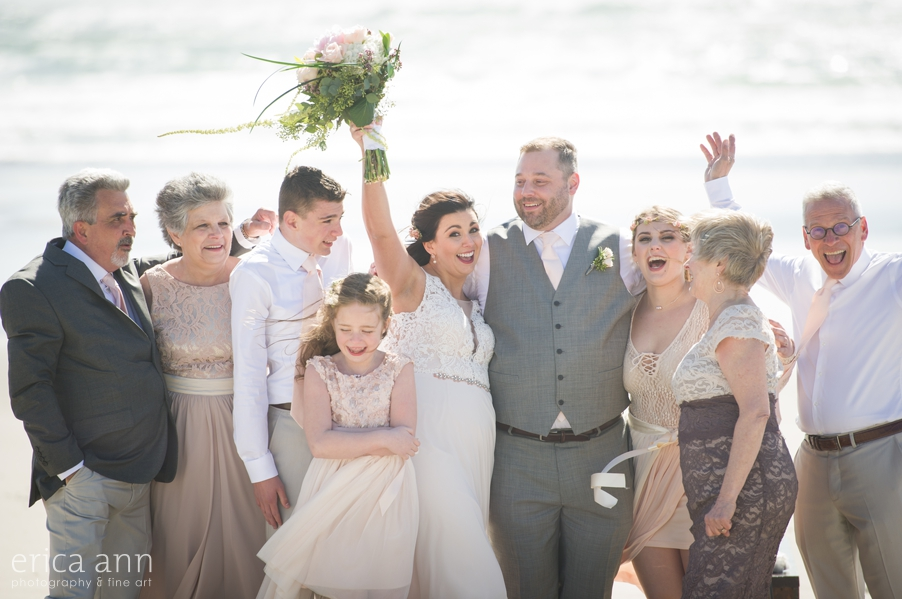 Oregon Coast Wedding Family