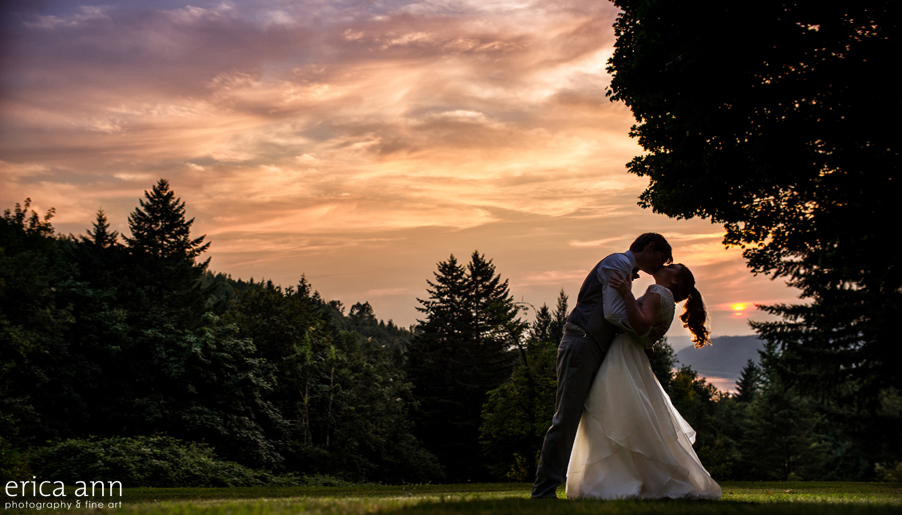 Bridal Veil Lakes Wedding Sunset