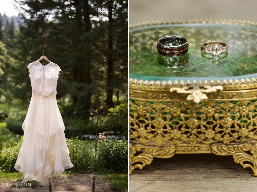 Bridal Veil Lakes Wedding Rings