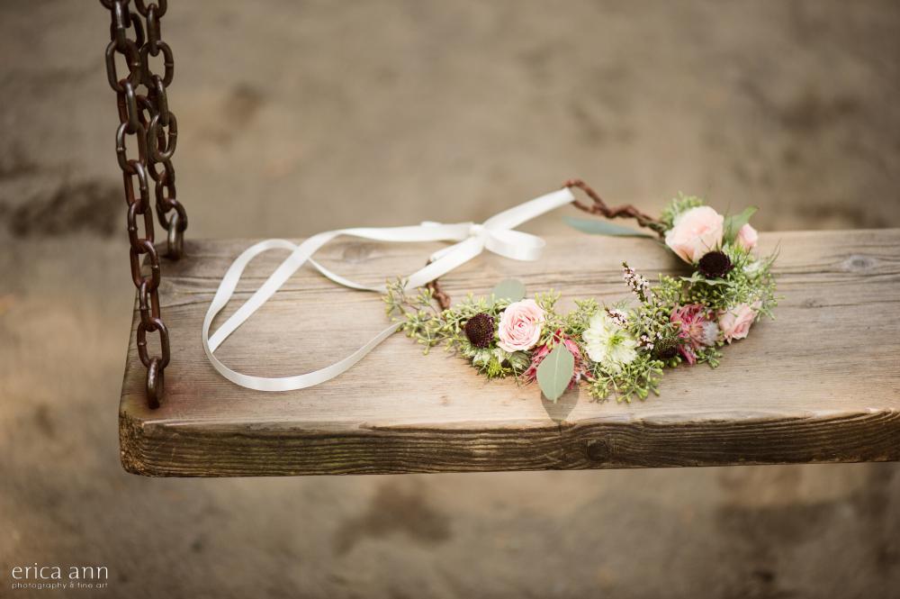 Bridal Veil Lakes Wedding Flower Crown