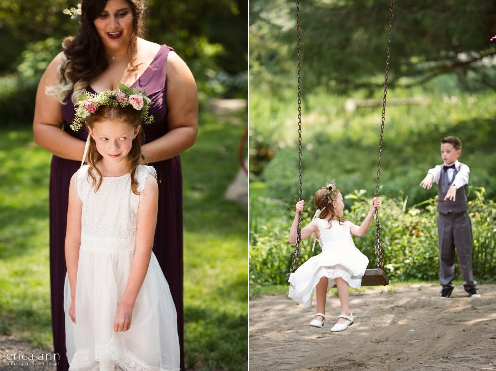 Bridal Veil Lakes Wedding Flower Girl Ring Bearer