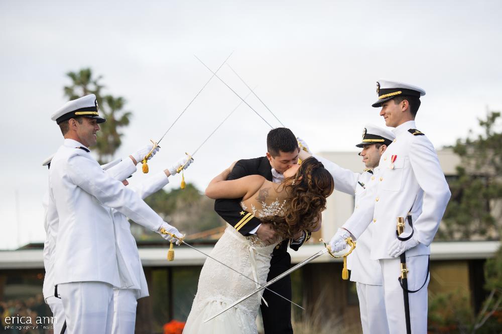 California beach wedding reception