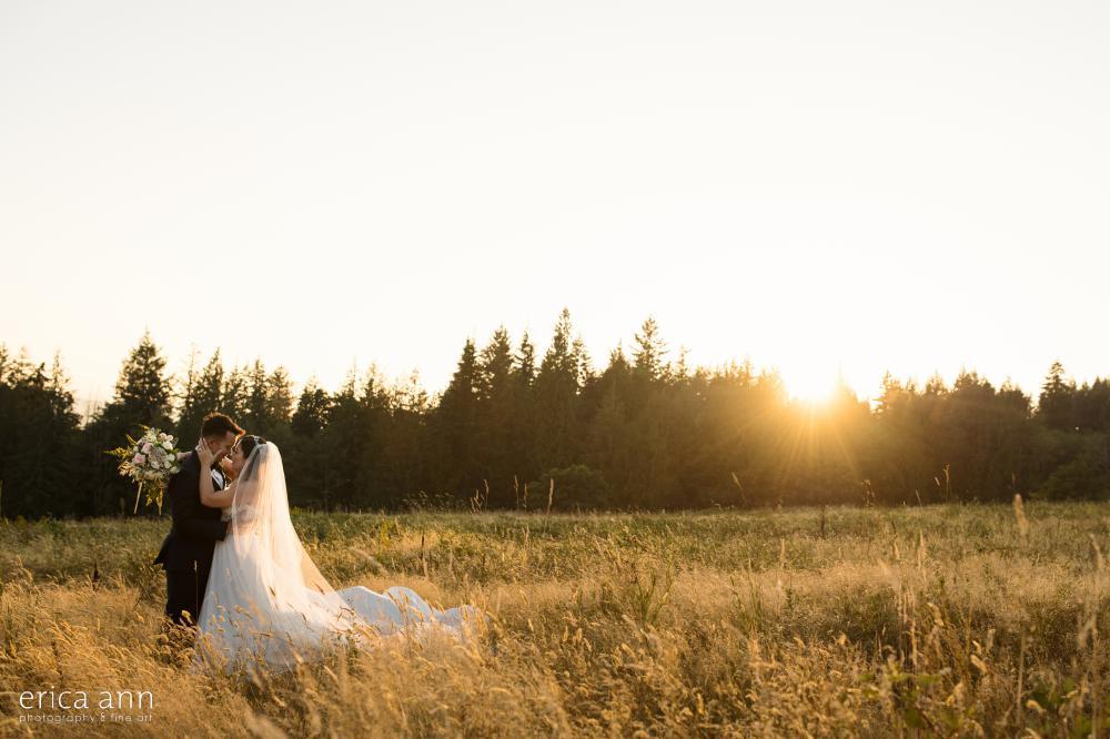 Empress Estate Wedding Reception Sunset