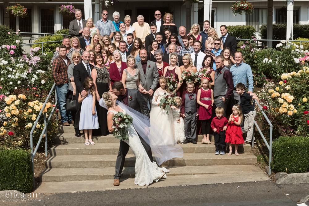 huge family portrait wedding