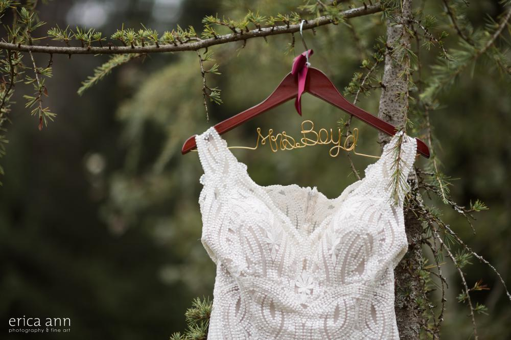 Bridal dress personalized hanger