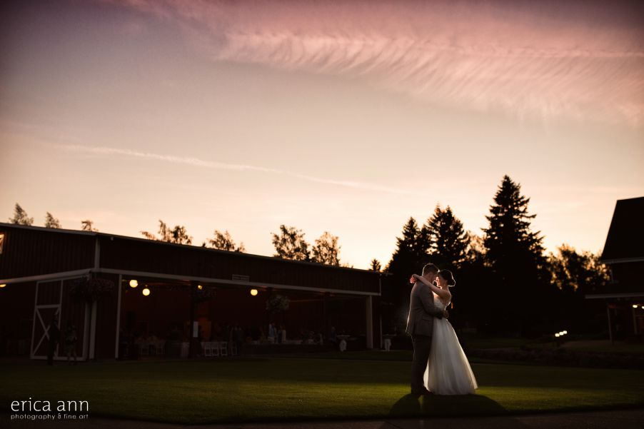 Langdon Farms Wedding Sunset